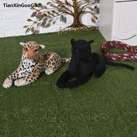 large 45cm simulation leopard plush toy soft doll birthday gift h2322