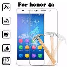 Protetor de tela para huawei y6 honor caso tampa de vidro temperado para honor 4a 4a scl-l00 scc-u21 película protetora