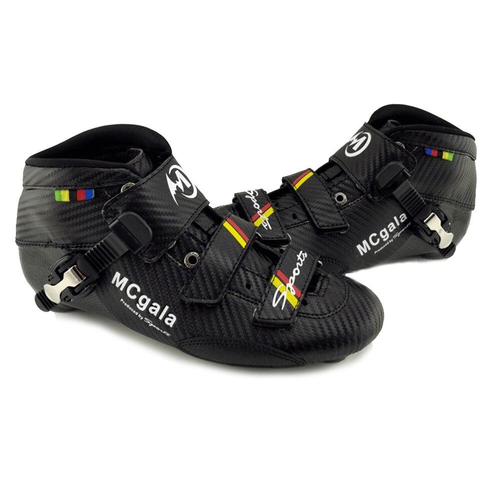 Bottes hautes Professionnel Marathon Rue Route Inline Vitesse chaussures de skate Carbone fibre pour Enfants Adultes Course De Patinage Patines MACA