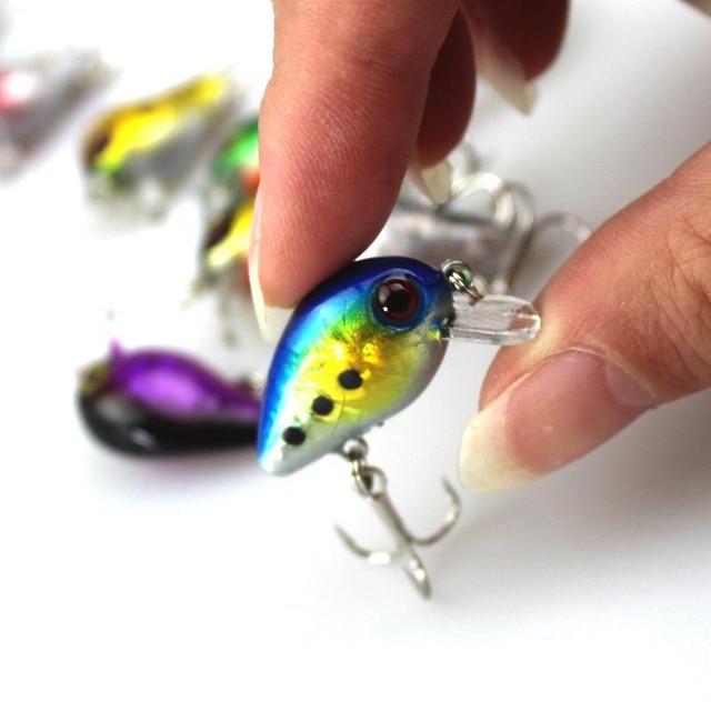 Best Offers 1PCS 3cm 1.5g Mini Crazy Wobble Pesca Crankbait Hard Crank Bait Tackle Artificial Fishing Lure Swimbait Fish Japan Wobbler