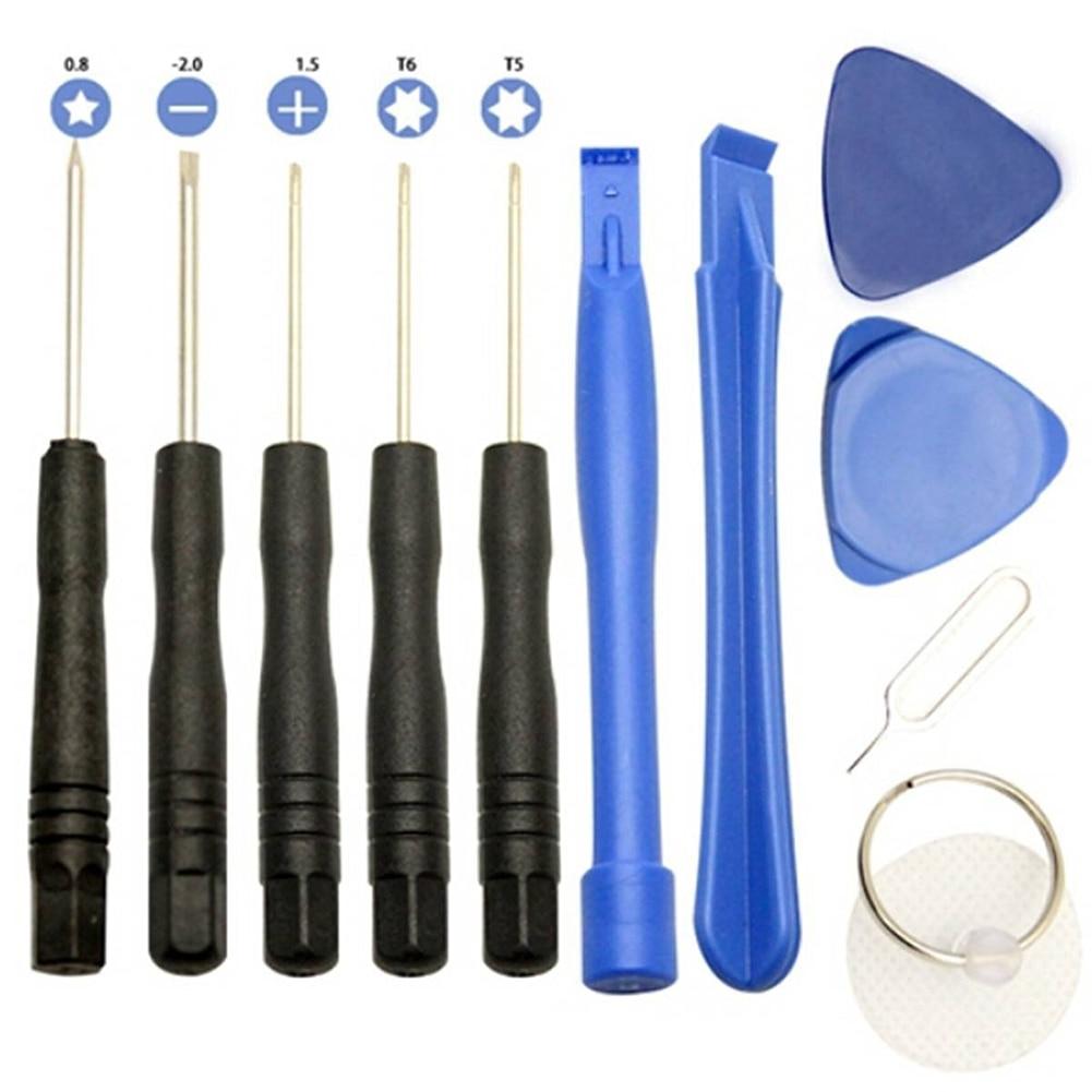 11 / 6pcs téléphones portables ouvrant Pry Kit de réparation de téléphone portable Kit de tournevis pour iPhone 4 4S 5 5s 6,6Plus Outils à main Set