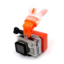 TELESIN Mouth Mount Surfing Skating Shoot Dummy Bite Mouthpiece Holder Adapter for GoPro Hero 5 Hero 4 3+/3 2 1 SJ4000 Xiaomi Yi