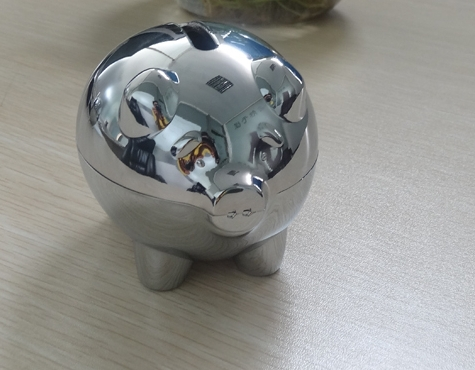New design metal lucky pig piggy bank kids gift moneybox safe box birthday gift business gift zakka tirelire ...