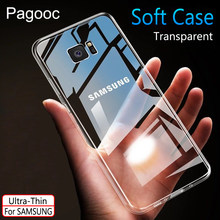 Transparan Soft Cover Case untuk Samsung Galaxy S7 Edge S10 S8 S9 Plus S10E A3 J3 A5 J5 A7 J7 2016 2017 A6 A8 2018(China)