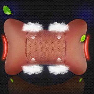 Image 5 - 1 枚のカーシートのヘッドレスト頭頸部枕快適なソフトパッド頸部サポートクッション車の首枕自動ヘッドで車の枕