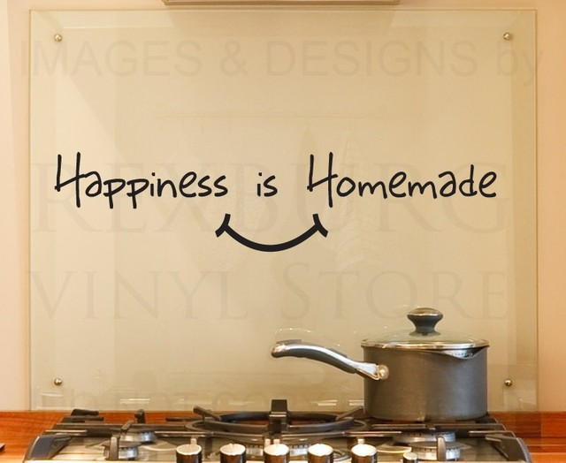 Wall Decal Quote Vinyl Sticker Art Removable Happiness is Homemade ...