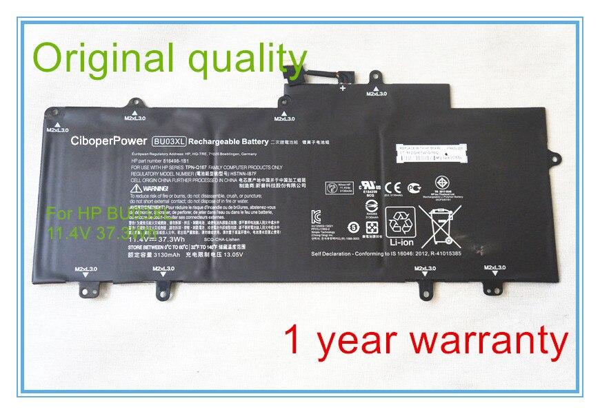 Qualité d'origine pour BU03XL HSTNN-IB7F 816498-1C1 816609-005 batterie ajustement Chromebook 14 G4
