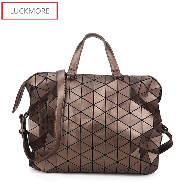 Famous Brands Women BaoBao Bag Geometry Sequins Mirror Saser Plain Folding Bags Luminous Handbags PU Casual Tote Bao Bao Package geometric lattice geometry package inferior smooth sequins mirror plain folding handbags women bags handbag women famous brands