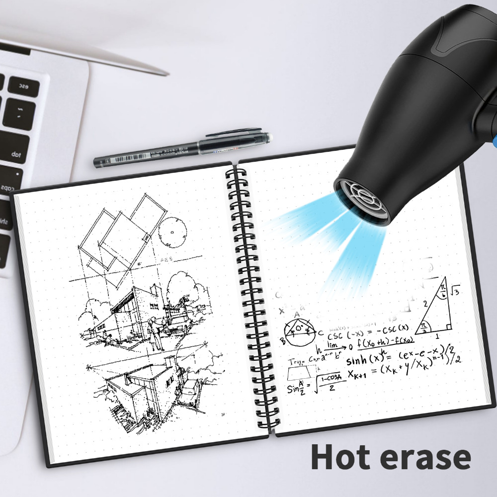 NEWYES A6 size Smart Reusable Erasable Notebook Microwave Wave Cloud Erase Notepad Note Pad Lined With Pen save paper 6