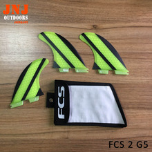 FCS brand new surfboard FCS 2 G5 M fins made of fiberglass honeycomb (Tri-set)G5 FCS 2 surfing thruster with bag