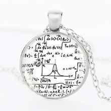 Math Equation Necklace Mathematical Formulas Jewelry Quantum Physics Chokers 2016