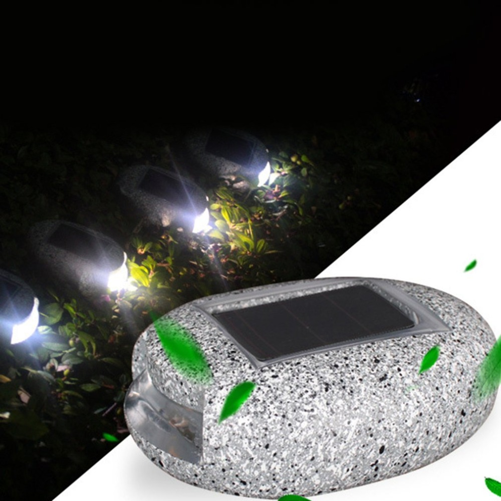 The Best Solar Light Home Garden Solar Power Buried Light Stone Shape Under Ground Lamp Outdoor Path Way Garden Decking Ip44 Solar Lamp With The Most Up-To-Date Equipment And Techniques Led Underground Lamps Led Lamps