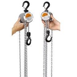 KACC Mini Grua Chain Da Mão Gancho Monte 0.25/0.5 Ton 3 M Elevador Certificado Do CE Portátil Manual de Alavanca bloco De Elevação