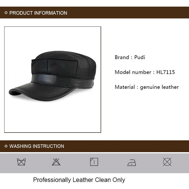 HL7115 real couro boné de beisebol chapéu morno do inverno Russo ... 462751db5ca