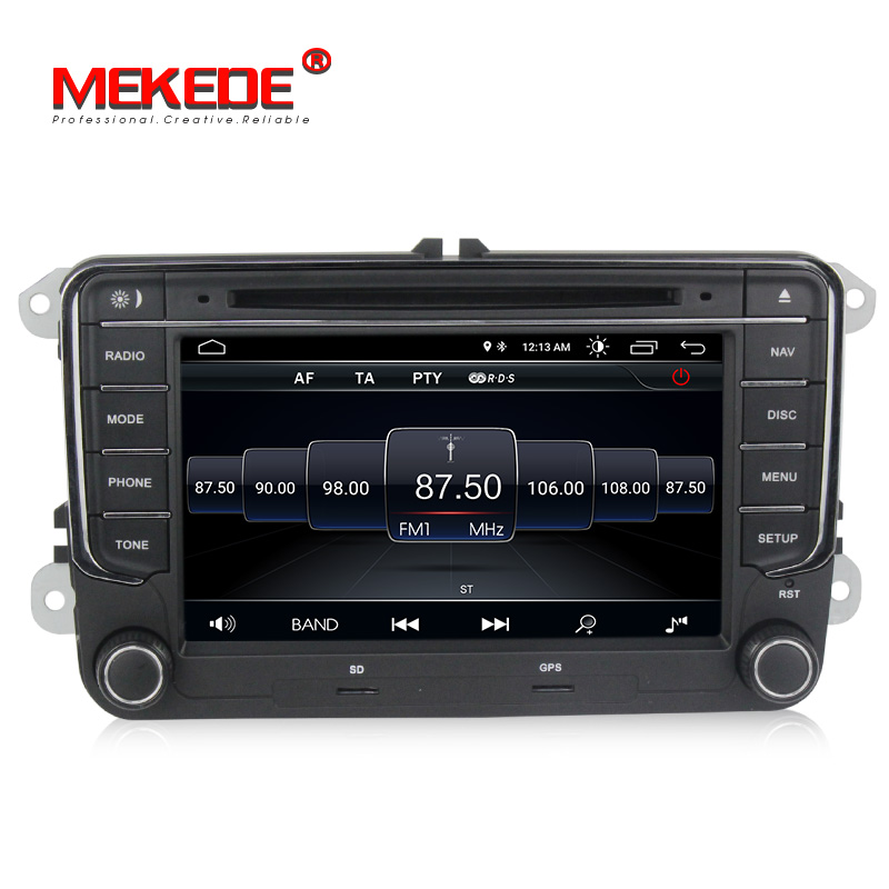 German panel 7inch 2din android8 1 car GPS dvd player for VW golf 5 6 passat