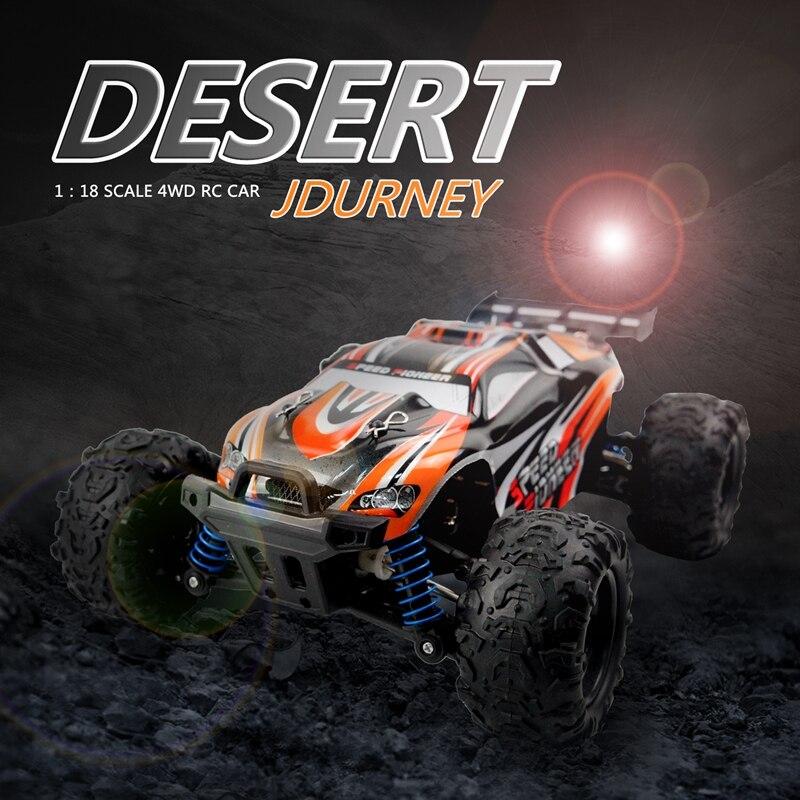 2.4GHz 4WD 1/18 haute vitesse télécommande RC voiture de course tout-terrain camion cadeau