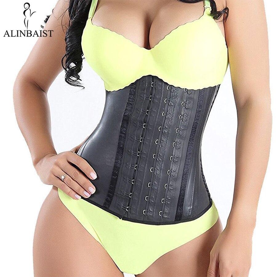 Shapewear feminino extra forte látex cintura trainer treino ampulheta cinto cintura cincher trimmer longo torso fajas 9 osso de aço