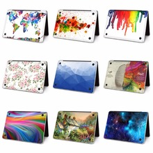 ФОТО ycsticker - laptop sticker bottom side full vinyl decal left&right brain painting skin for macbook air retina new pro touch bar
