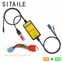 SITAILE car MP3 music CD player Adapter machine charger for audi A2 A3 A4 A6 8PIN Interface USB AUX Interface car styling kit
