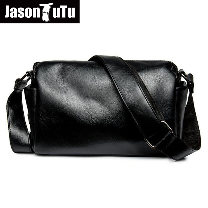 JASON TUTU Promotions Men Shoulder Bags,Leisure Travel Black Small Bag Crossbody ,messenger Bag Men Leather High Quality B206