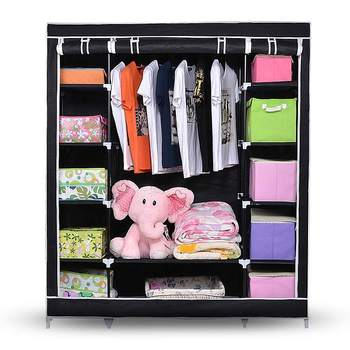 New Modern Non-woven Cloth Wardrobe Storage Cabinet DIY  Fold Portable Storage Cabinet Multifunction Dustproof Closet
