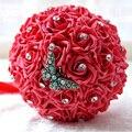 Simplish Estilo Mariposa Broches Ramo de Novia Damas de honor de espuma PE Rosa Ramo de Flores de La Boda con Diamantes de Imitación de La Boda FE33