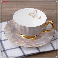 1set European Style Coffee Cup Plate Set Phnom Penh Ceramic Afternoon Tea Cup Bone China Coffee