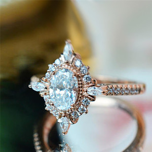 ROMAD Vintage Crystal Rings for Women Magic Mirror Retro Rings with Gift Box Rose Gold Finger Ring Female Wedding Jewelry R3(China)