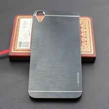 Luxo Ultra fina de alumínio escovado escova caixa de Metal duro para HTC Desire 820 caso Fundas capa protetora Mobile Phone casos
