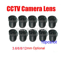10pcs/Lot CCTV Camera Board Lens 3.6mm 6mm 8mm 12mm Fixed Iris M12 Mount Wholesale For CCTV Analog / IP Camera Free Shipping