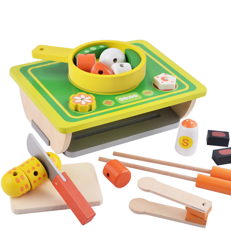 Pretend Play toys, Parent-child interaction wooden toys children oven,Children's intelligence development education toys