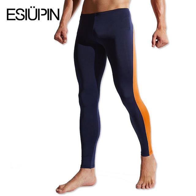 ESIUPIN Moda respirável homens roupa interior Longo Johns calças de secagem rápida calças Roupas Y30