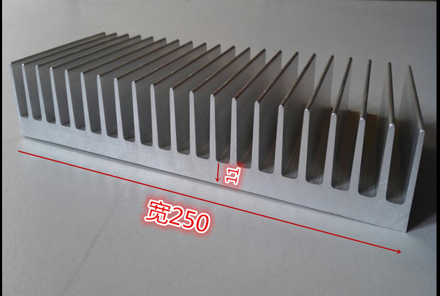 Ship EMS High quality aluminum radiator aluminum heatsink width 250mm high 40mm length 300mm Custom Heatsink