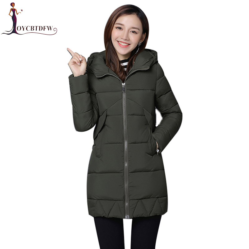 Winter Women outerwear 2017 new solid color Large size ladies overcoat mid-long Thickening hooded coat warm female Parkas wy019 2015 new hot winter thicken warm woman down jacket coat parkas outerwear hooded splice mid long plus size 3xxxl luxury cold