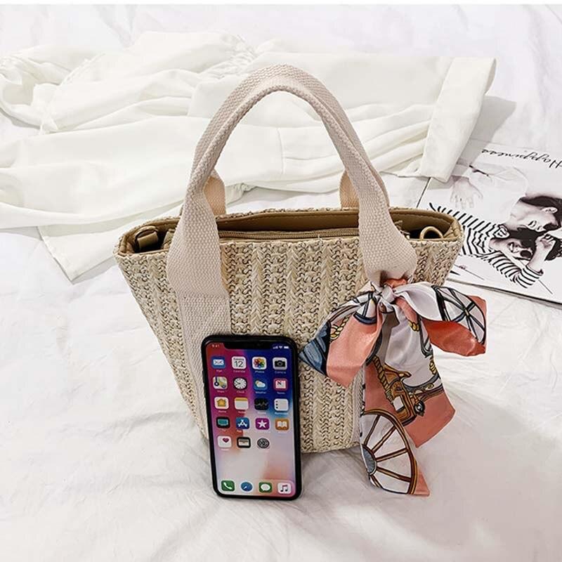 Women Handbag Straw Straw Beach Bag Bolsa Feminina Shoulder Bag Messenger Crossbody Bags for Women Handbag Bags for Women 2019 in Top Handle Bags from Luggage Bags