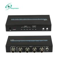 רזולוציה גבוהה במיוחד 3 גרם/HD/SD_SDI מחליף חלק 4x1 4 ב 1 החוצה  תומך 300 m עבור SD  200 m עבור HD ו 100 m עבור 3 גרם אותות באתר