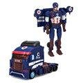 Transformação Robôs deformação DIY Capitão América Modelo de Caminhão Brinquedos Para As Crianças