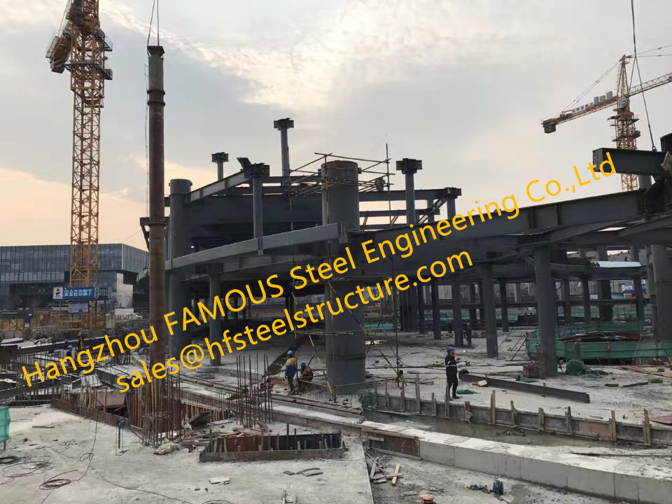 Modern Steel Structure Building For Industrial Warehouse Or Plant Assembled By China Steel Rigging  Company