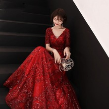 c232df5a549d8 Buy long red engagement dresses and get free shipping on AliExpress.com