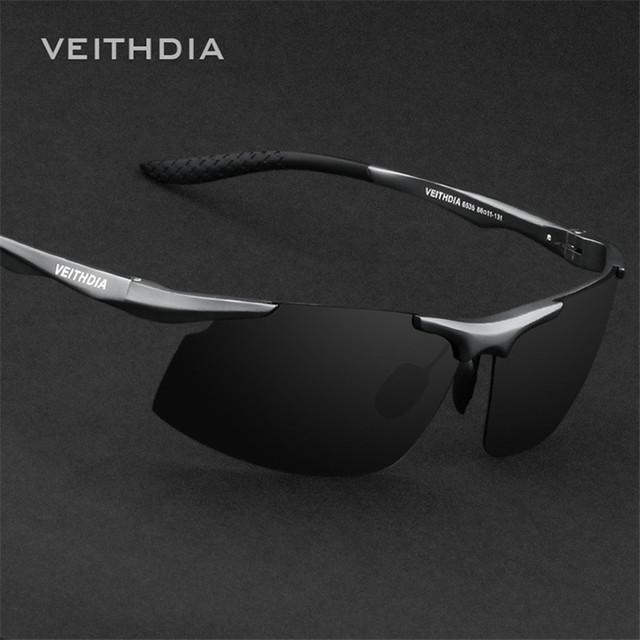 Homens de Alumínio E Magnésio Veithdia Polarizada Esporte óculos de Sol óculos de Condução Espelho Óculos De Sol Oculos de sol Feminino 126