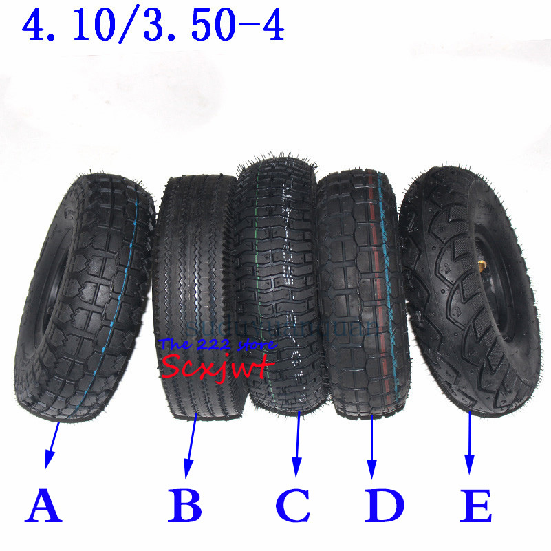 10'' 4.10/3.50-4 Front Or Rear Wheel Tires For Electric Scooter Wheelchair Elderly Mobility Scooter Tyres  410-4 350-4 Tyre Tube