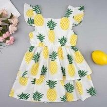 Baby Clothing  Printed Dresses Children Kids Girl Sleeveless Flower Dress Baby Girl Spring Summer Dresses for Girls все цены