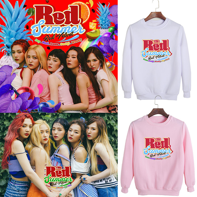KPOP RedVelvet Album The Red Summer Irene Wendy With The Round Neck Men And Women Sweater Dropshipping
