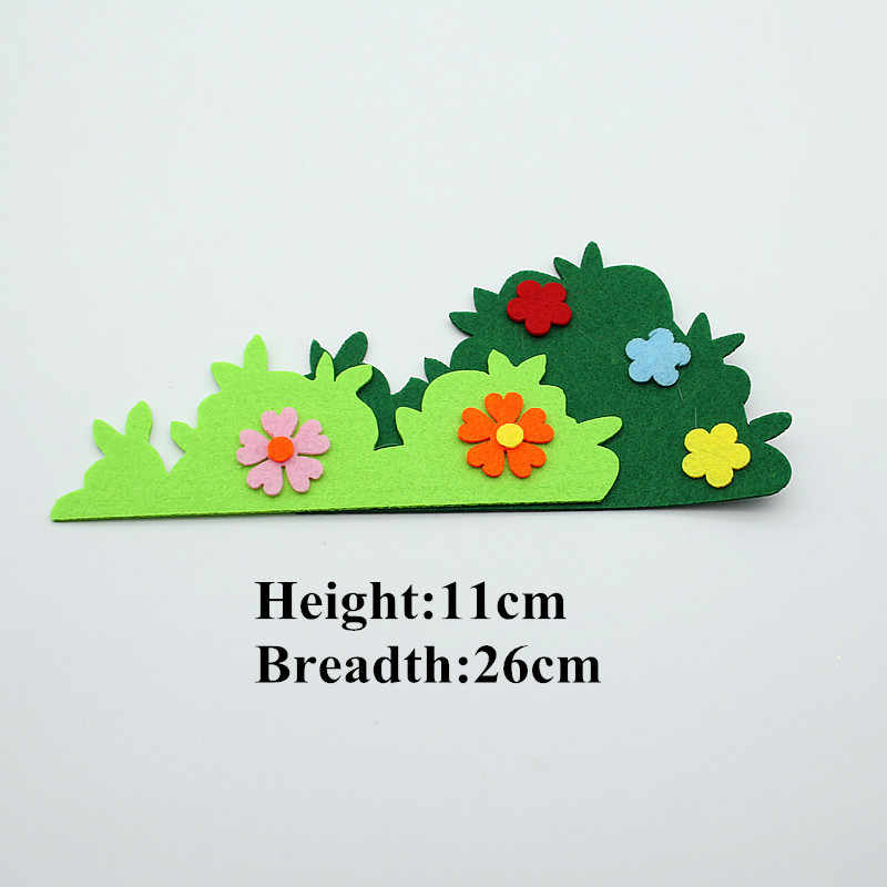 Hot Sell Felt Craft Cloth Felts Cutting Flower Grass Heart Appliques Diy Kids Room Decoration Stickers Kindergarten Decoration Decorative Stickers Decorative Decorativedecor Diy Aliexpress