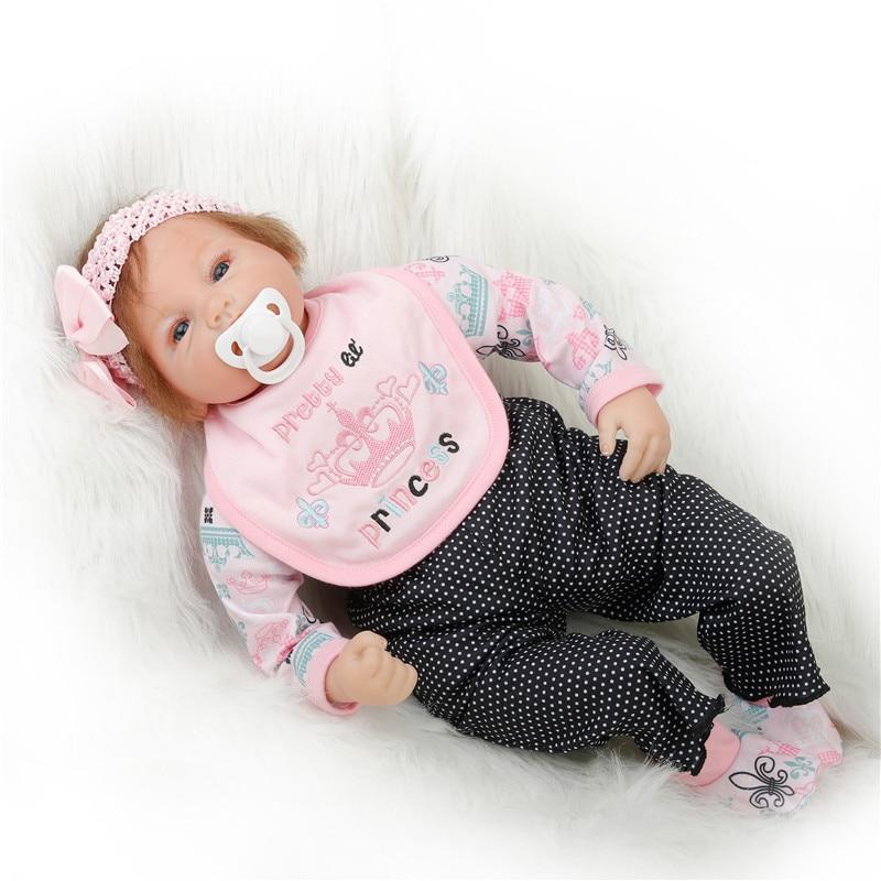 SanyDoll 22 inch 55 cm Silicone baby reborn dolls, lifelike Fashion Cute Suit doll holiday gift birthday gift