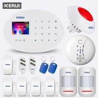 KERUI W20 433 МГц Беспроводная 2,4 дюймовая сенсорная панель приложение управление wifi GSM домашняя охранная сигнализация комплект сигнализации