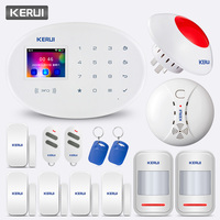 KERUI W20 433MHZ Wireless 2.4 inch Touch Panel APP Control wifi GSM Home Security Alarm System Alarm Kit