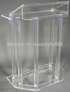 Free Shipping High Quality Soundness Modern Design Cheap Acrylic Lectern