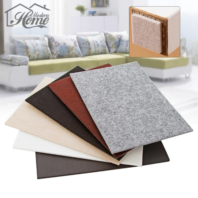 Lovely 2pcs Super Large Thick Table Leg Pads Protectors Adhesive Furniture Feet  Non Slip Rug Felt Pads