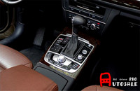 For Audi A6 C7 2012 2015 Stainless Chromium Styling Gear Shift Decortive Frame Trim Interior Car Trims 1pcs